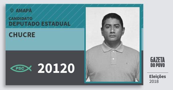 Santinho Chucre 20120 (PSC) Deputado Estadual | Amapá | Eleições 2018