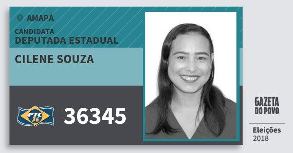 Santinho Cilene Souza 36345 (PTC) Deputada Estadual | Amapá | Eleições 2018