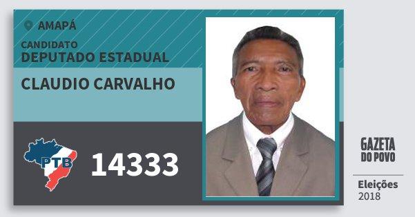 Santinho Claudio Carvalho 14333 (PTB) Deputado Estadual | Amapá | Eleições 2018