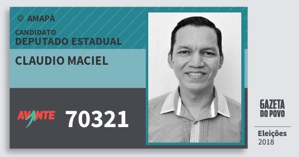 Santinho Claudio Maciel 70321 (AVANTE) Deputado Estadual | Amapá | Eleições 2018