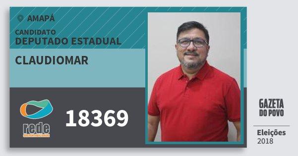 Santinho Claudiomar 18369 (REDE) Deputado Estadual | Amapá | Eleições 2018