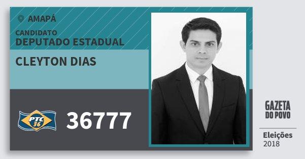 Santinho Cleyton Dias 36777 (PTC) Deputado Estadual | Amapá | Eleições 2018