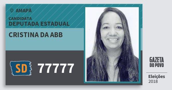 Santinho Cristina da Abb 77777 (SOLIDARIEDADE) Deputada Estadual | Amapá | Eleições 2018