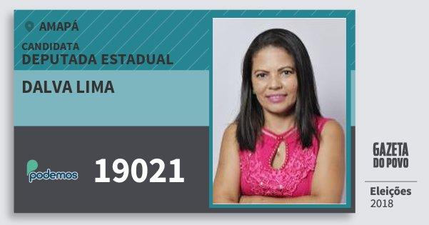 Santinho Dalva Lima 19021 (PODE) Deputada Estadual | Amapá | Eleições 2018