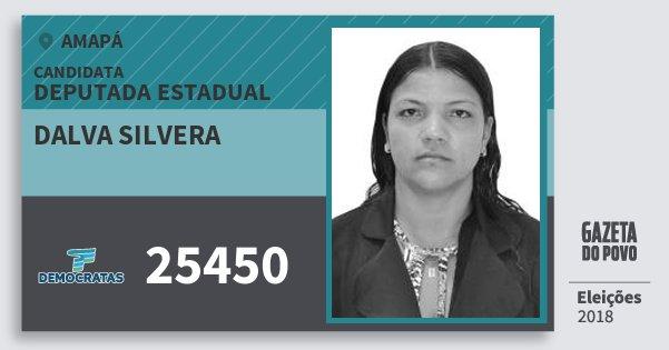 Santinho Dalva Silvera 25450 (DEM) Deputada Estadual | Amapá | Eleições 2018