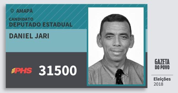 Santinho Daniel Jari 31500 (PHS) Deputado Estadual | Amapá | Eleições 2018