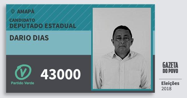 Santinho Dario Dias 43000 (PV) Deputado Estadual | Amapá | Eleições 2018
