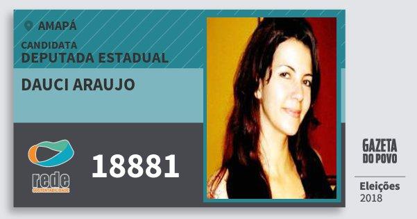 Santinho Dauci Araujo 18881 (REDE) Deputada Estadual | Amapá | Eleições 2018