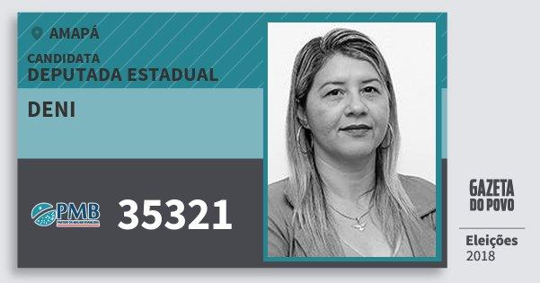 Santinho Deni 35321 (PMB) Deputada Estadual | Amapá | Eleições 2018