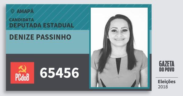 Santinho Denize Passinho 65456 (PC do B) Deputada Estadual | Amapá | Eleições 2018