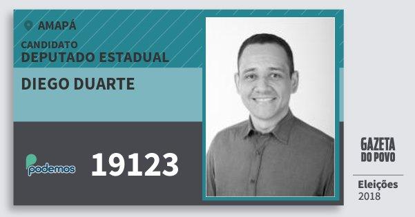 Santinho Diego Duarte 19123 (PODE) Deputado Estadual | Amapá | Eleições 2018