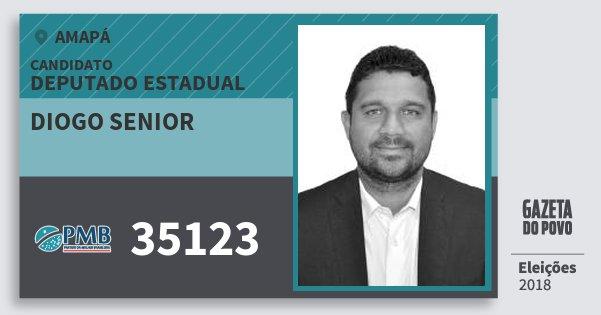 Santinho Diogo Senior 35123 (PMB) Deputado Estadual | Amapá | Eleições 2018