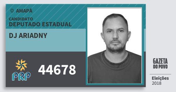 Santinho Dj Ariadny 44678 (PRP) Deputado Estadual | Amapá | Eleições 2018