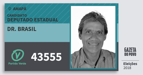 Santinho Dr. Brasil 43555 (PV) Deputado Estadual | Amapá | Eleições 2018