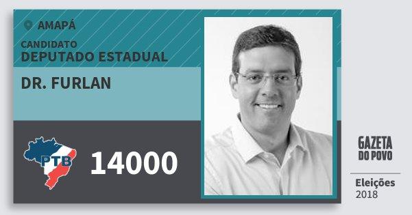 Santinho Dr. Furlan 14000 (PTB) Deputado Estadual | Amapá | Eleições 2018