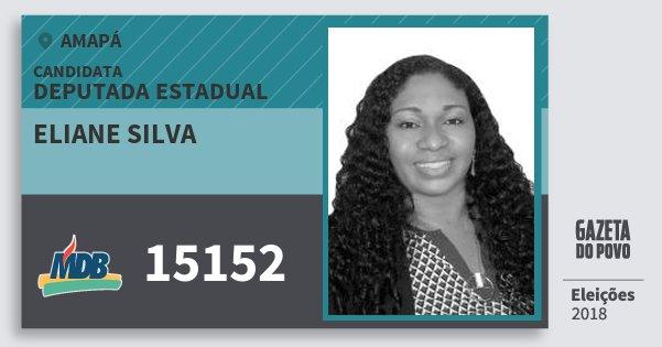 Santinho Eliane Silva 15152 (MDB) Deputada Estadual | Amapá | Eleições 2018