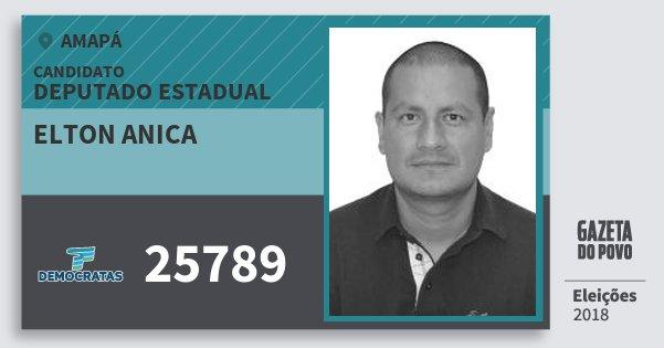Santinho Elton Anica 25789 (DEM) Deputado Estadual | Amapá | Eleições 2018