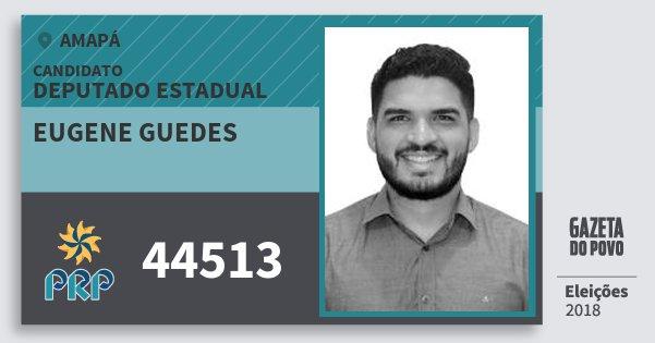 Santinho Eugene Guedes 44513 (PRP) Deputado Estadual | Amapá | Eleições 2018