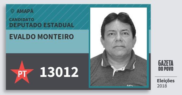 Santinho Evaldo Monteiro 13012 (PT) Deputado Estadual | Amapá | Eleições 2018