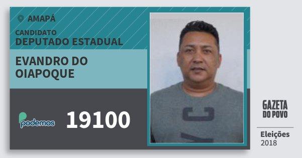 Santinho Evandro do Oiapoque 19100 (PODE) Deputado Estadual | Amapá | Eleições 2018