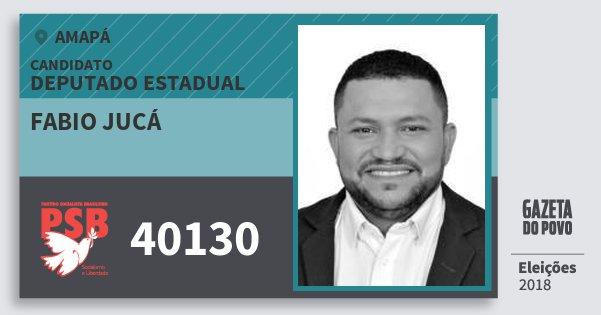 Santinho Fabio Jucá 40130 (PSB) Deputado Estadual | Amapá | Eleições 2018