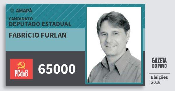 Santinho Fabrício Furlan 65000 (PC do B) Deputado Estadual | Amapá | Eleições 2018