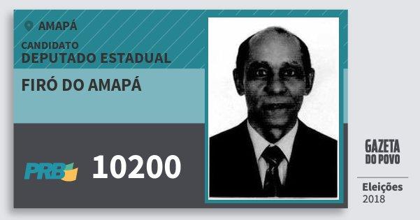 Santinho Firó do Amapá 10200 (PRB) Deputado Estadual | Amapá | Eleições 2018