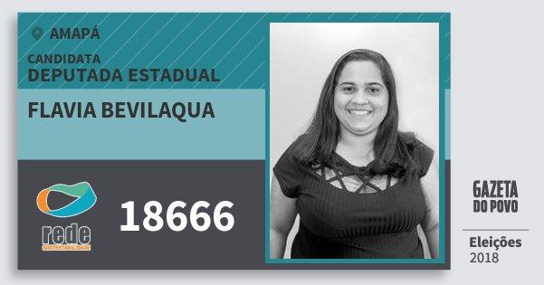 Santinho Flavia Bevilaqua 18666 (REDE) Deputada Estadual | Amapá | Eleições 2018