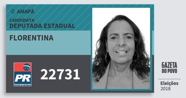 Santinho Florentina 22731 (PR) Deputada Estadual | Amapá | Eleições 2018
