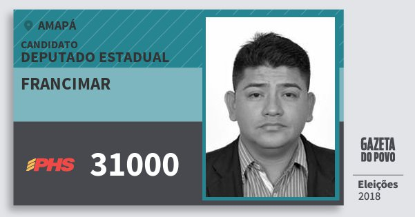 Santinho Francimar 31000 (PHS) Deputado Estadual | Amapá | Eleições 2018