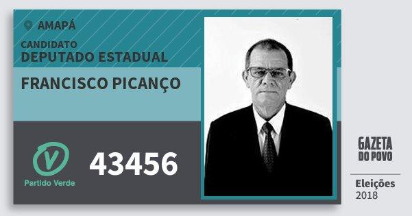 Santinho Francisco Picanço 43456 (PV) Deputado Estadual | Amapá | Eleições 2018