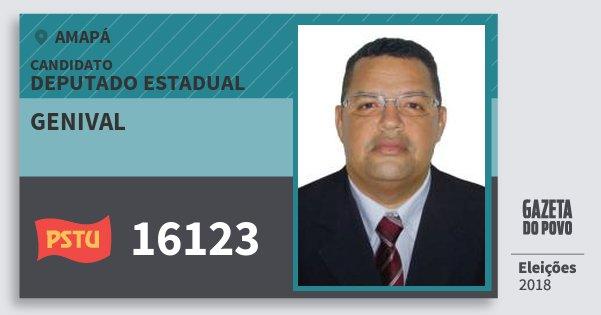 Santinho Genival 16123 (PSTU) Deputado Estadual | Amapá | Eleições 2018