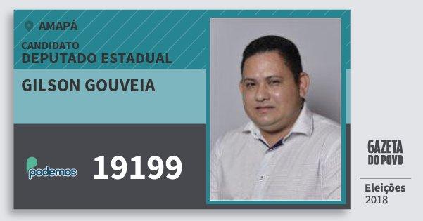 Santinho Gilson Gouveia 19199 (PODE) Deputado Estadual | Amapá | Eleições 2018