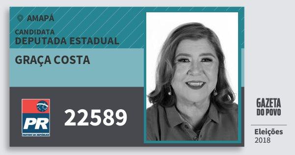 Santinho Graça Costa 22589 (PR) Deputada Estadual | Amapá | Eleições 2018