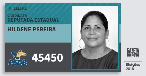 Santinho Hildene Pereira 45450 (PSDB) Deputada Estadual | Amapá | Eleições 2018