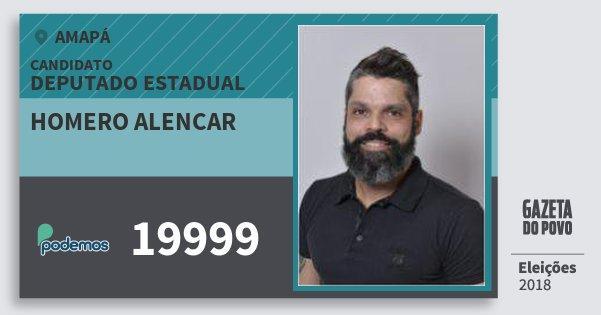 Santinho Homero Alencar 19999 (PODE) Deputado Estadual | Amapá | Eleições 2018