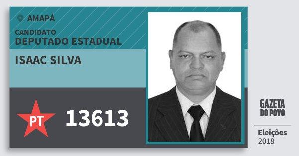 Santinho Isaac Silva 13613 (PT) Deputado Estadual | Amapá | Eleições 2018