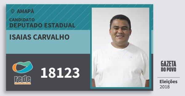 Santinho Isaias Carvalho 18123 (REDE) Deputado Estadual | Amapá | Eleições 2018