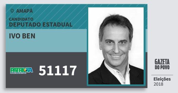 Santinho Ivo Ben 51117 (PATRI) Deputado Estadual | Amapá | Eleições 2018