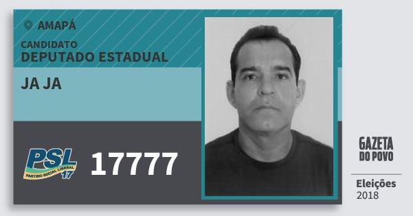 Santinho Ja Ja 17777 (PSL) Deputado Estadual | Amapá | Eleições 2018