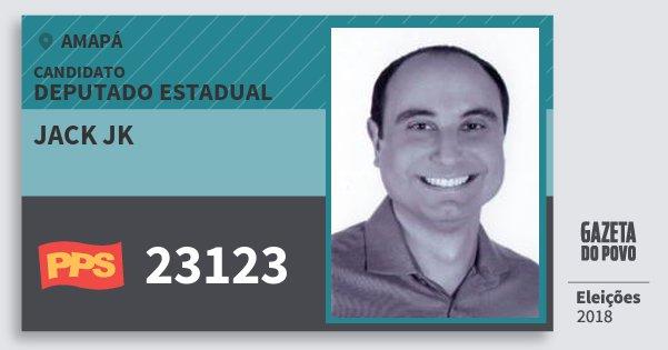 Santinho Jack Jk 23123 (PPS) Deputado Estadual   Amapá   Eleições 2018
