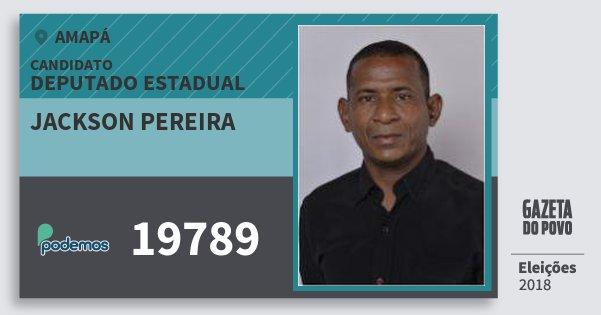 Santinho Jackson Pereira 19789 (PODE) Deputado Estadual | Amapá | Eleições 2018