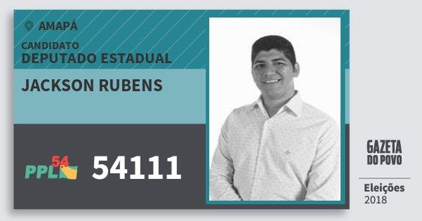 Santinho Jackson Rubens 54111 (PPL) Deputado Estadual | Amapá | Eleições 2018