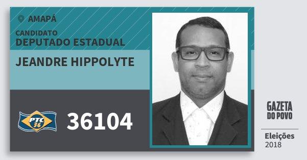 Santinho Jeandre Hippolyte 36104 (PTC) Deputado Estadual | Amapá | Eleições 2018