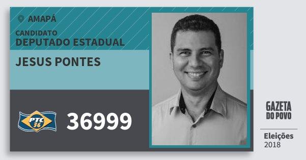 Santinho Jesus Pontes 36999 (PTC) Deputado Estadual | Amapá | Eleições 2018