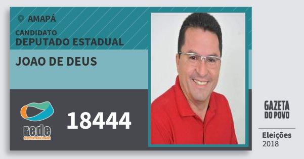 Santinho Joao de Deus 18444 (REDE) Deputado Estadual | Amapá | Eleições 2018