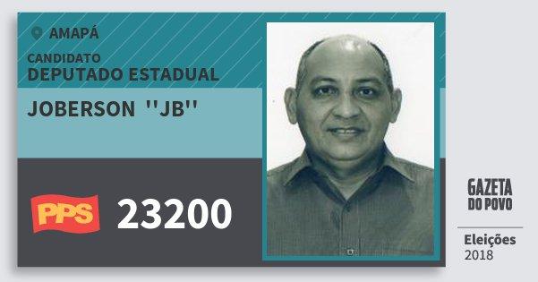 Santinho Joberson  ''jb'' 23200 (PPS) Deputado Estadual | Amapá | Eleições 2018