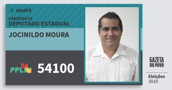 Santinho Jocinildo Moura 54100 (PPL) Deputado Estadual | Amapá | Eleições 2018