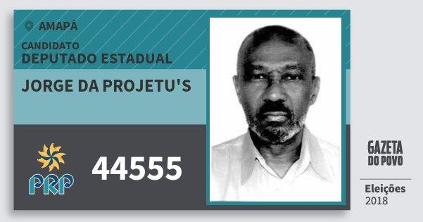 Santinho Jorge da Projetu's 44555 (PRP) Deputado Estadual | Amapá | Eleições 2018