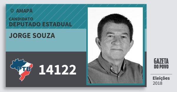 Santinho Jorge Souza 14122 (PTB) Deputado Estadual | Amapá | Eleições 2018
